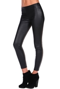Vegan Leather Legging - Black Bean - 28