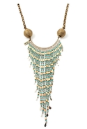 Bandina Bamboo Long Necklace - Turquoise