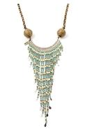 Vanessa Mooney          Bandina Bamboo Long Necklace - Turquoise