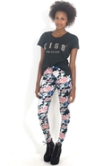 Jordan Jean in Navy Floral - Floral Navy - Large