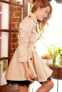 London Coat - Tan with Pinstripes - Large