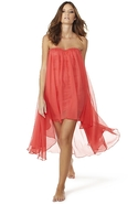 Sweetheart Chiffon Dress in Sugar Coral - Sugar Co