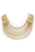 Tube Collar Necklace - Gold