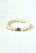 Bijouterie Light Wood Jade Bracelet - Purple