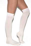 Cable Knit Over The Knee Socks in Ivory One Size F