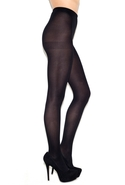 Solid Opaque Tights in Black One Size Fits All