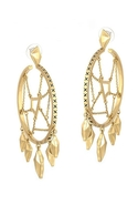 Dream Catcher Hoop Earrings - Gold