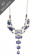 . Sea of Ladder Necklace Blue