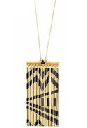 Metal Fringe Necklace in Gold