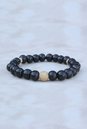 Bijouterie Wood Gold Dust Bracelet Black Wood