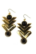 Kachira Earrings- Gold/Black