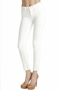 SALEJ Brand 511 MidRise Skinny Leg Corduroy in Cre