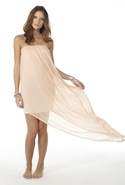 Tube Dress - Pale Peach - Large