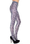Python Print Tights - Black - One Size Fits All