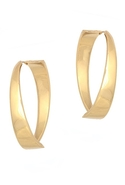 SALE-Belle Noel Modernista Hoop Earrings - Gold