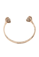 Rose Gold Talon Cuff with Black Diamond Pave - Ros