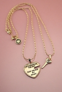 Wildfox Jewelry Heart and Key Necklace Set - Gold