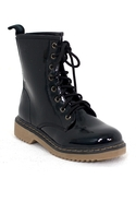 Frankie Patent Lace Up Boot - Black - 6