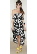 Tolani Morgan Ruffle Tube Dress - Black with White