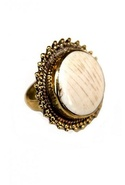 SALE-Natalie B Tibet Bone Circle Ring - Bone - One