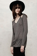 SALE-LnA Kensington Exposed Collar Bone Sweater - 