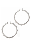 Starburst Hoops - Silver