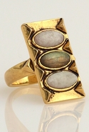 Moonstone and Labradorite Ring in Gold 7