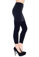 Skirted Legging - Black - One Size Fits All