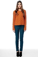 SALE-BB Dakota David Sweater - Burnt Orange - Larg
