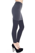 Skirted Legging in Grey One Size Fits All