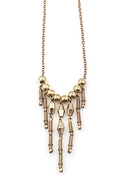 Moth to Flame Necklace Brass