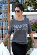 Happy Is The New Comfy KT Sweater Washed Black Lar