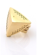 Faceted Pyramid Cocktail Ring in Gold 6