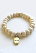 Bijouterie Light Wood Love Charm Bracelet - Light