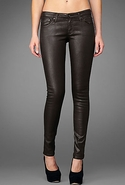 Adriano Goldschmied The Leatherette Legging in Bla