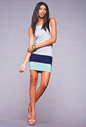 Margaret Colorblock Dress - Heather - Medium