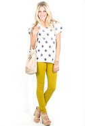 SALE-Current Elliott The Ankle Skinny in Mustard -