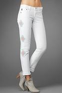 SALEAG Denim Stilt Jean in Santa Fe White Santa Fe