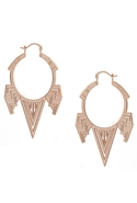 Station Chevron Earrings in Rose Gold
