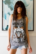 Effie Venice Muscle Tank - Gray - Medium/Large