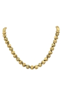 Engraved Rocky Collar Necklace - Gold