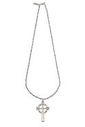 Olesia Cross Necklace in Silver