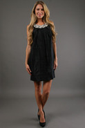 Shimmer Jewel Neckline In Black