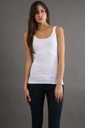 Boyfriend Tank in White 4160