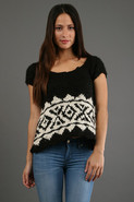 Flare Crop Sleeve in Black