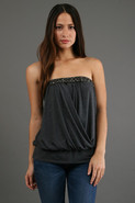 Carrie Tube Top in Charcoal
