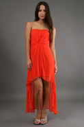 High Low Dress in Tangerine