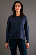 Oversized Pullover in Indigo Wash