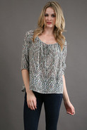 Scala Blouse in Moroco Print