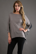 Jo P Fringe Top in Ash